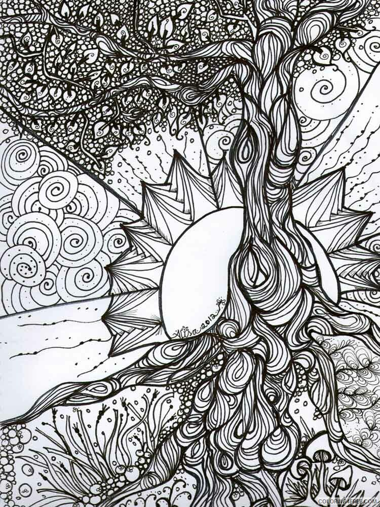 Adult Tree Coloring Pages adult tree 15 Printable 2020 494 Coloring4free