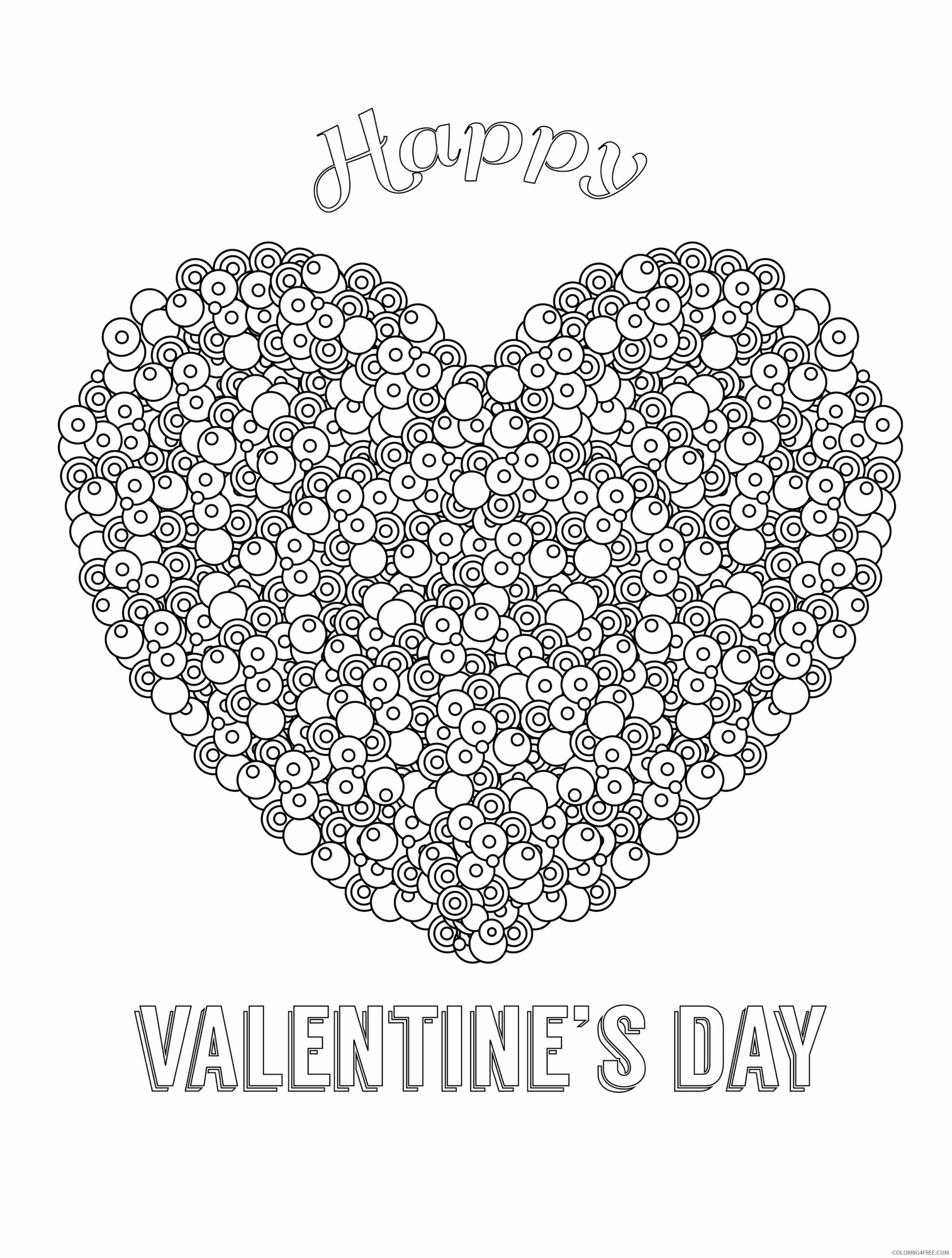 Adult Valentines Day Coloring Pages Happy Valentines Day Printable 2020 505 Coloring4free