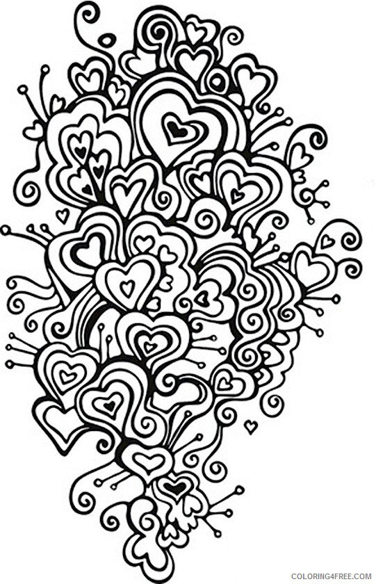 Adult Valentines Day Coloring Pages Swirls Valentines Adults Printable 2020 508 Coloring4free