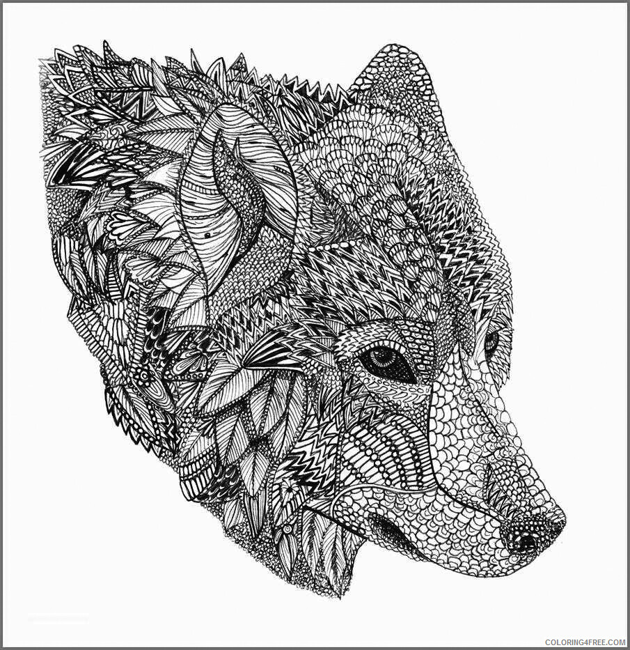 Adult Wolf Coloring Pages Hard Wolf Printable 2020 517 Coloring4free