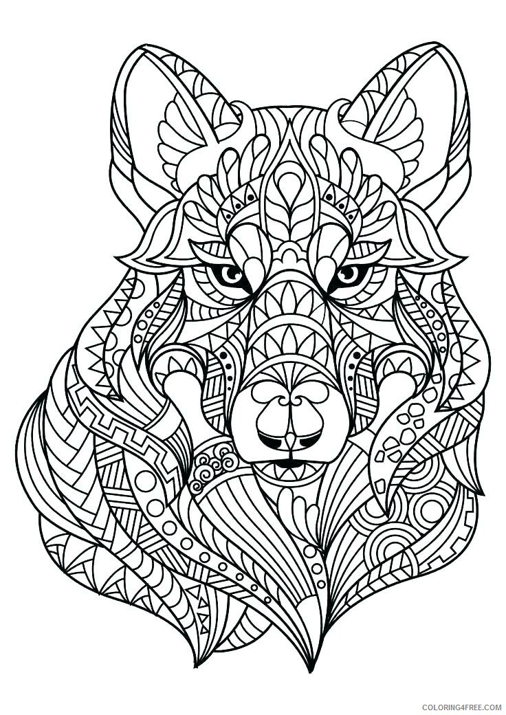 Adult Wolf Coloring Pages Wolf for Adults Printable 2020 519 Coloring4free