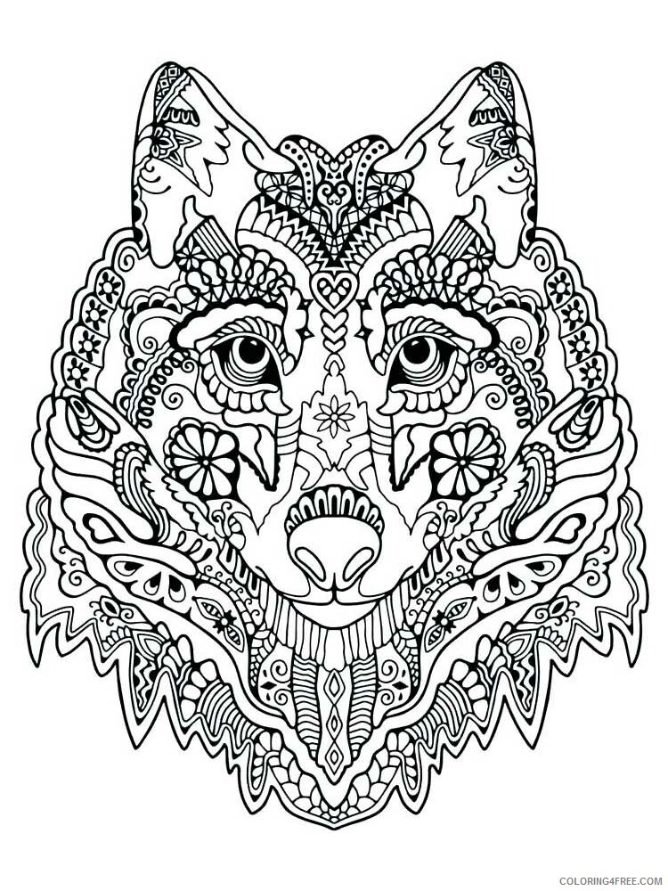 Adult Wolf Coloring Pages wolf for adults 10 Printable 2020 521 Coloring4free