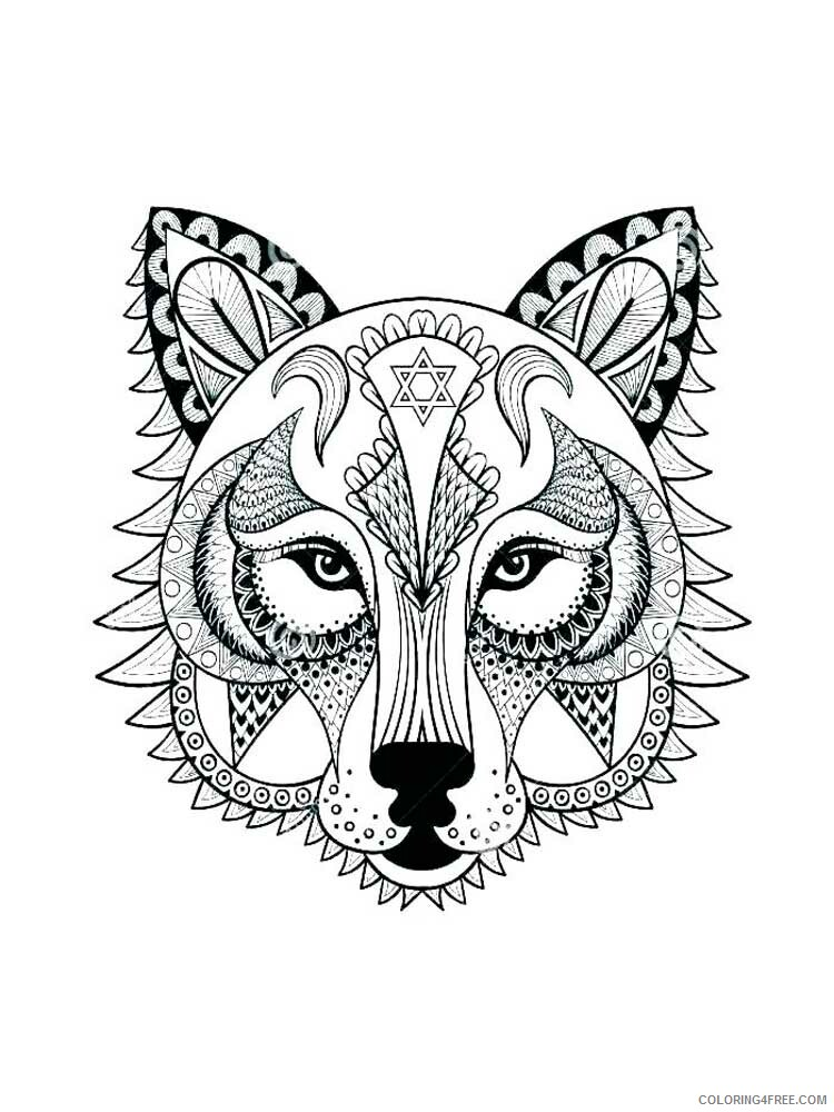 Adult Wolf Coloring Pages wolf for adults 4 Printable 2020 524 Coloring4free