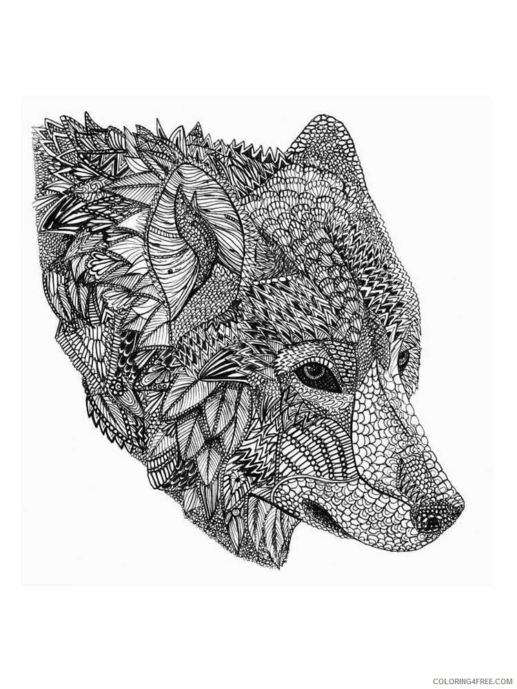 Adult Wolf Coloring Pages Wolf For Adults 7 Printable 2020 527  Coloring4free - Coloring4Free.com