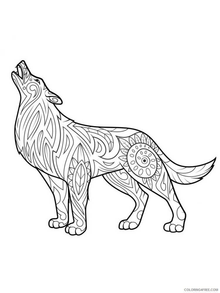 Adult Wolf Coloring Pages Wolf For Adults 9 Printable 2020 528  Coloring4free - Coloring4Free.com