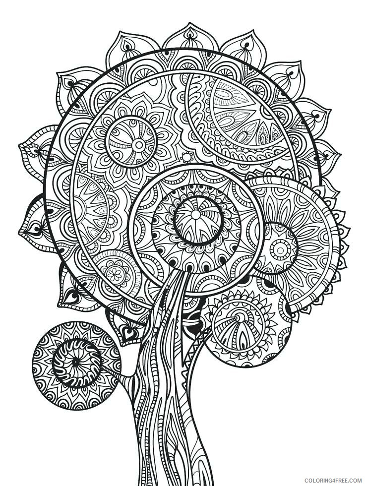Advanced Coloring Pages Adult Advanced Fall for Adults Printable 2020 062 Coloring4free