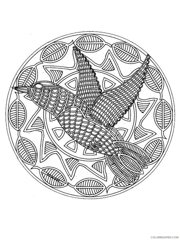Animal Mandala Coloring Pages Adult Adult Animal Mandala 12 Printable 2020  072 Coloring4free - Coloring4Free.com