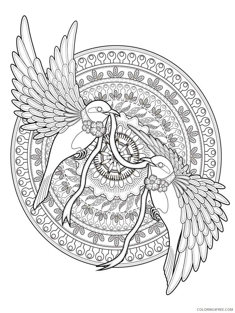 Animal Mandala Coloring Pages Adult Adult Animal Mandala 13 Printable 2020  073 Coloring4free - Coloring4Free.com