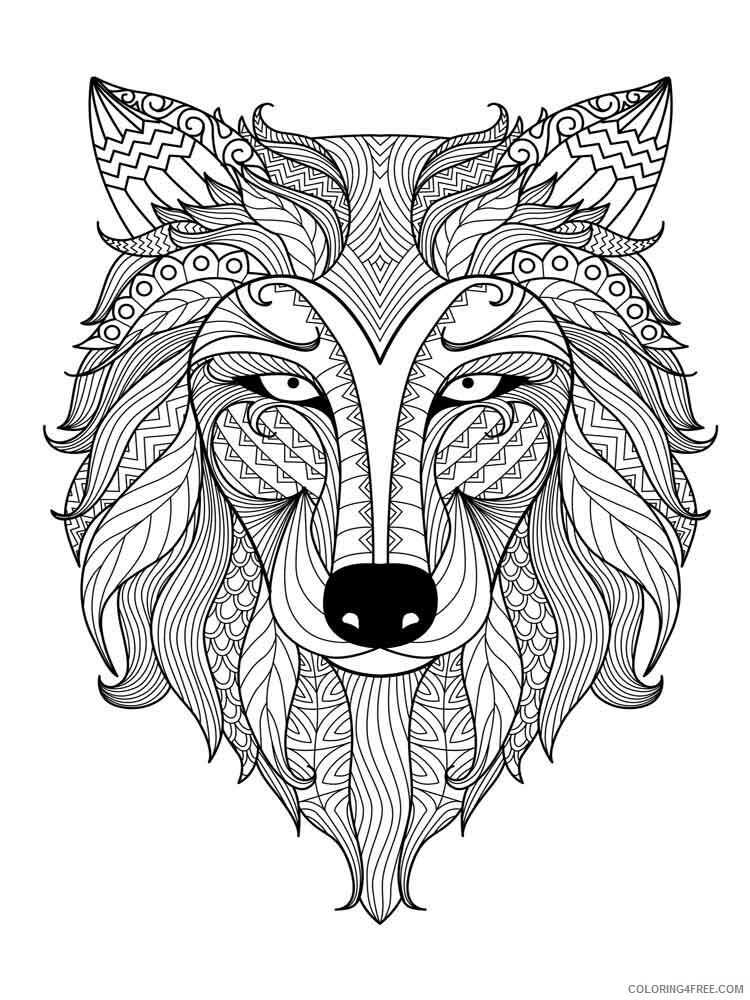 Animal Mandala Coloring Pages Adult adult animal mandala 14 Printable 2020 074 Coloring4free