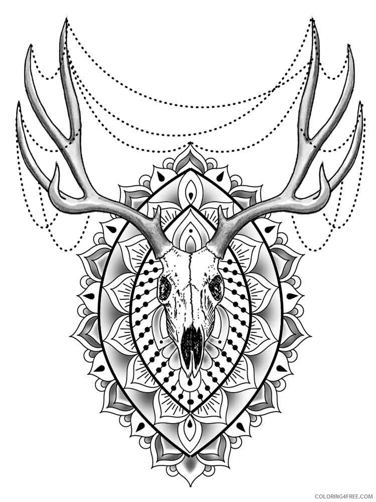 Animal Mandala Coloring Pages Adult Adult Animal Mandala 15 Printable 2020  075 Coloring4free - Coloring4Free.com