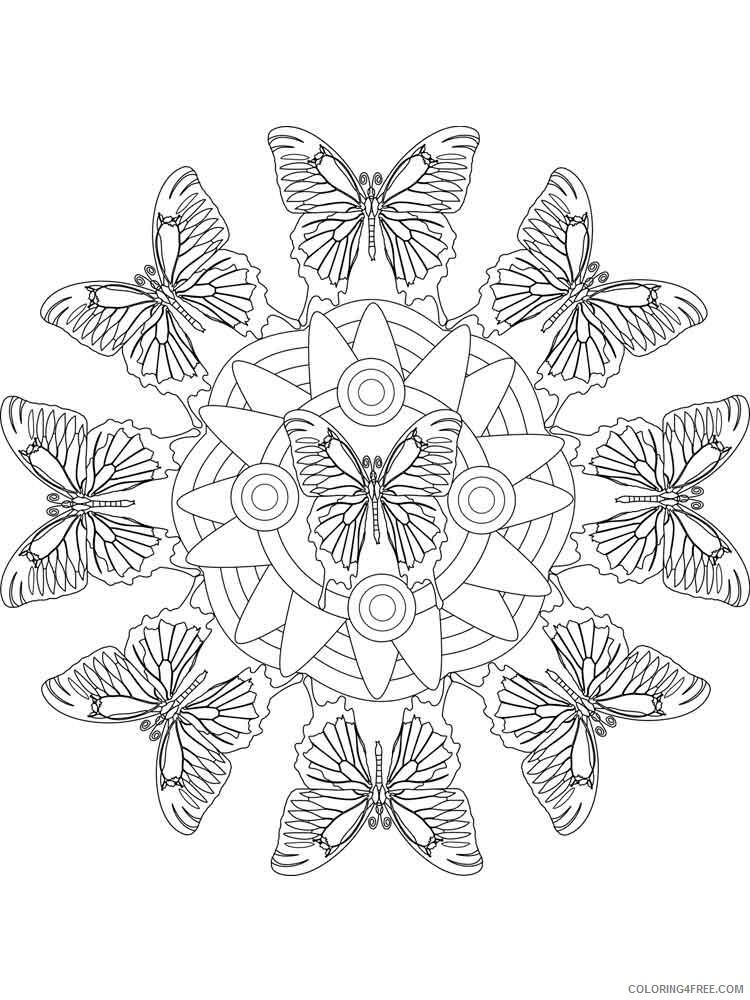 Animal Mandala Coloring Pages Adult adult animal mandala 16 Printable 2020 076 Coloring4free