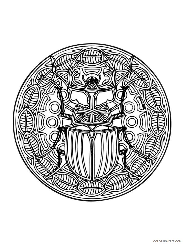 Animal Mandala Coloring Pages Adult adult animal mandala 17 Printable 2020 077 Coloring4free