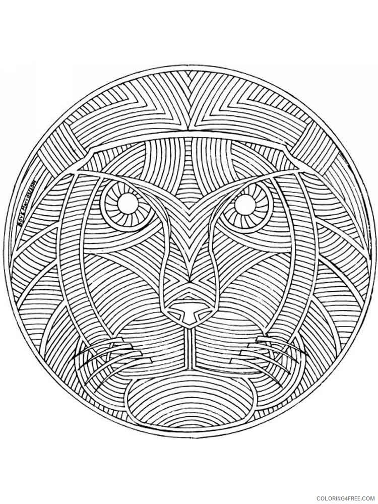 Animal Mandala Coloring Pages Adult adult animal mandala 7 Printable 2020 081 Coloring4free