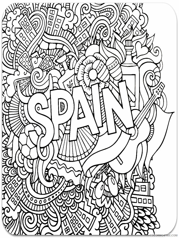 Anti Stress Coloring Pages Adult adult anti stress 53 Printable 2020 119 Coloring4free