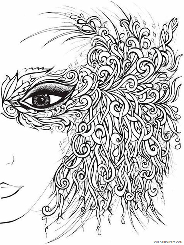 Anti Stress Coloring Pages Adult adult anti stress 6 Printable 2020 126 Coloring4free