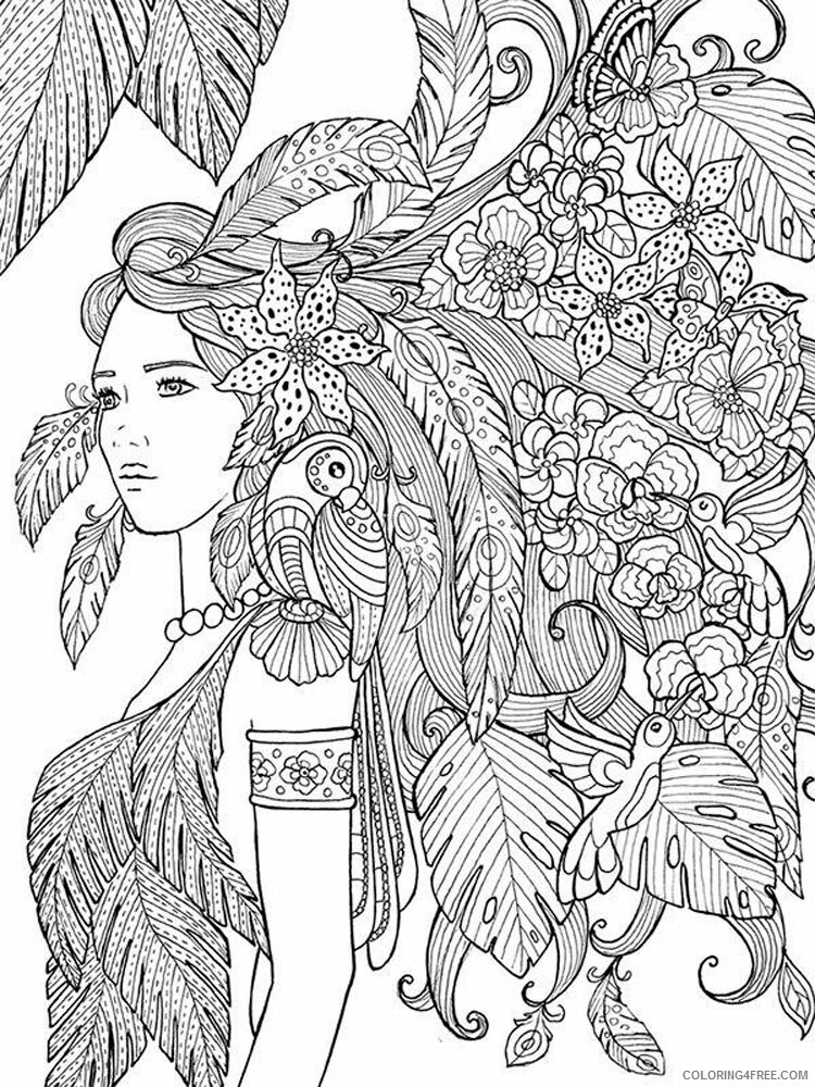 Anti Stress Coloring Pages Adult adult anti stress 7 Printable 2020 127 Coloring4free