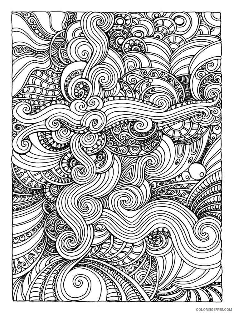 Art Therapy Coloring Pages Adult Adult Art Therapy 1 Printable 2020 130  Coloring4free - Coloring4Free.com