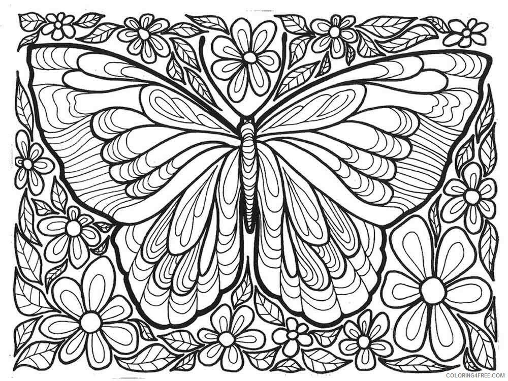 Art Therapy Coloring Pages Adult Adult Art Therapy 12 Printable 2020 132  Coloring4free - Coloring4Free.com