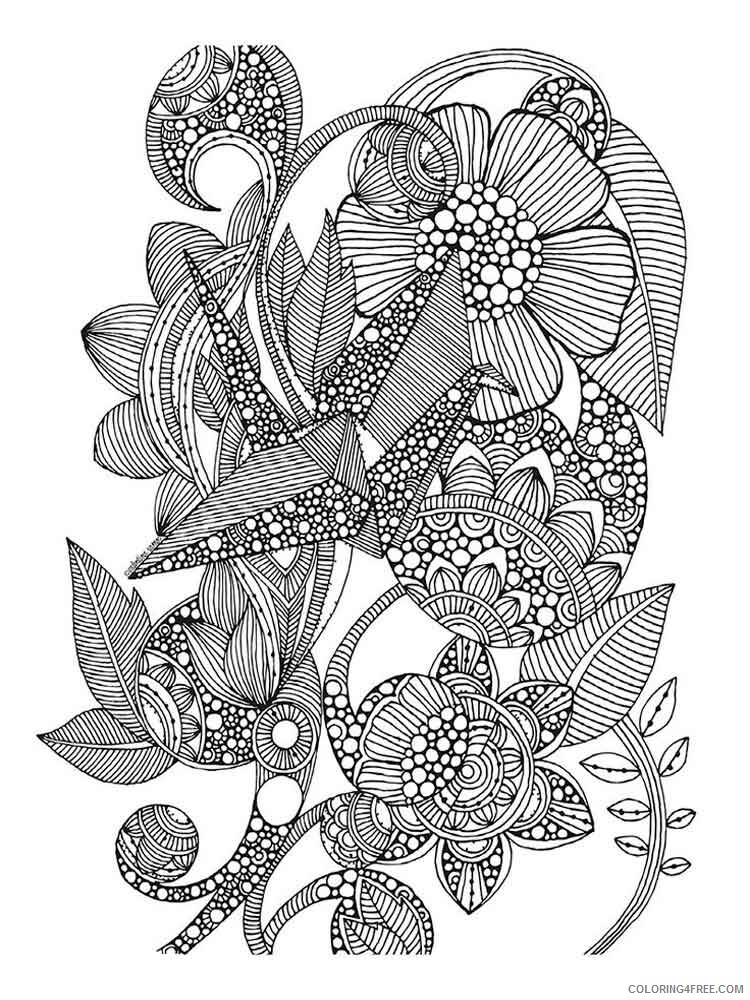 Art Therapy Coloring Pages Adult adult art therapy 14 Printable 2020 134 Coloring4free