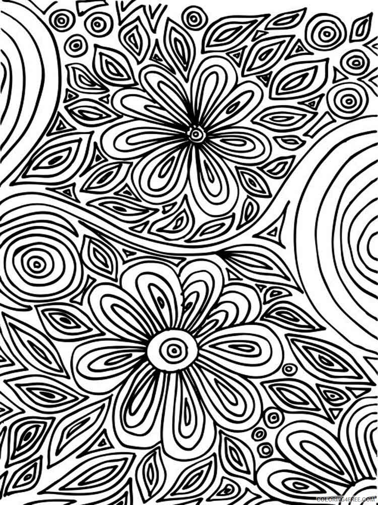 Art Therapy Coloring Pages Adult Adult Art Therapy 15 Printable 2020 135  Coloring4free - Coloring4Free.com