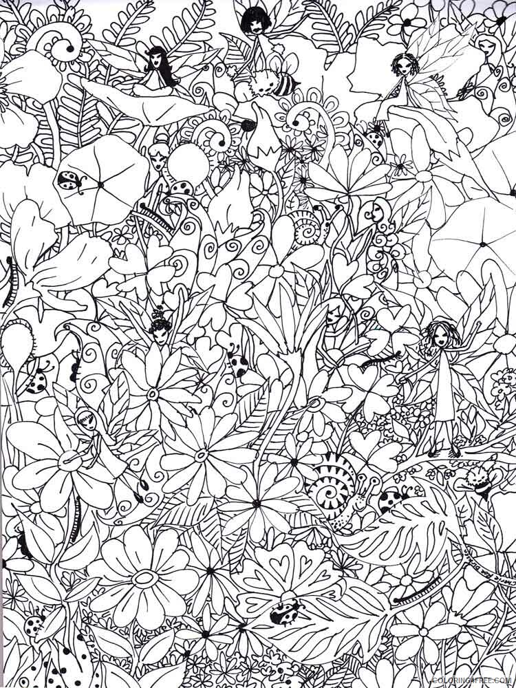 Art Therapy Coloring Pages Adult Adult Art Therapy 19 Printable 2020 138  Coloring4free - Coloring4Free.com