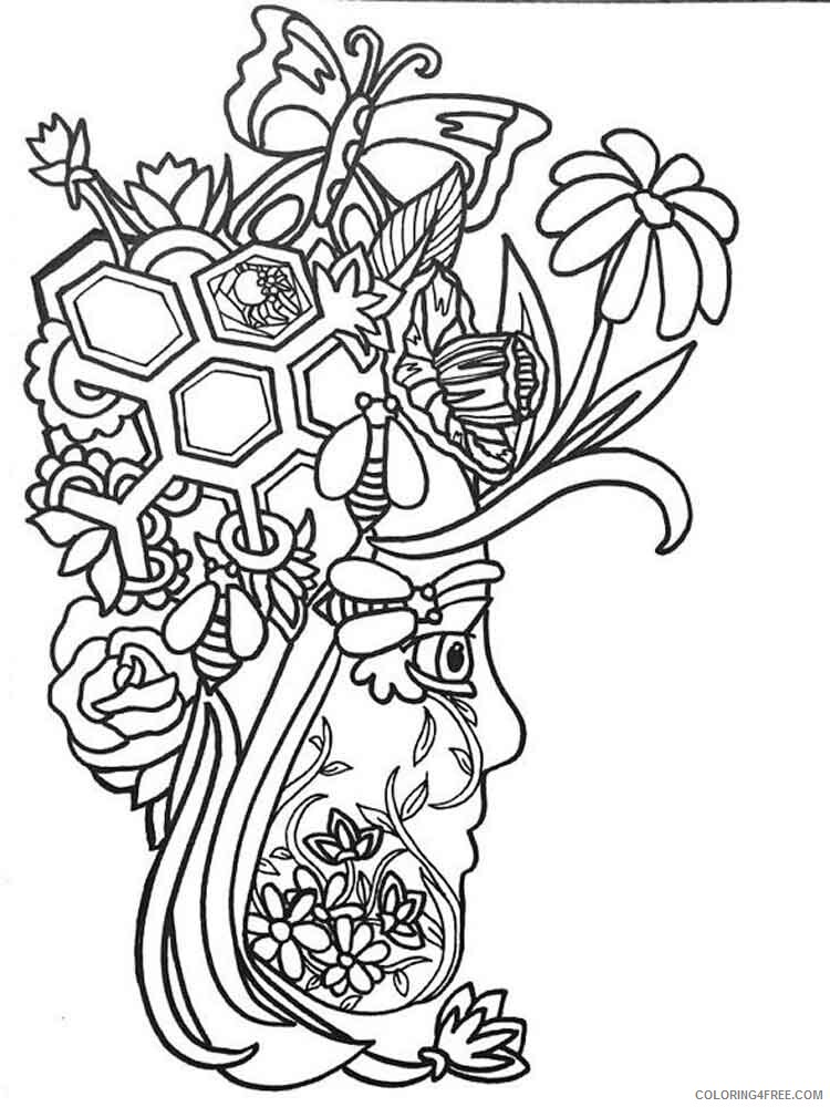 Art Therapy Coloring Pages Adult adult art therapy 27 Printable 2020 143 Coloring4free
