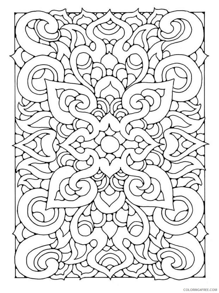 Art Therapy Coloring Pages Adult adult art therapy 4 Printable 2020 147 Coloring4free