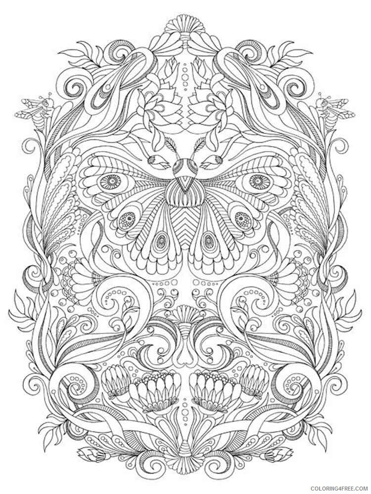 Art Therapy Coloring Pages Adult adult art therapy 6 Printable 2020 149 Coloring4free