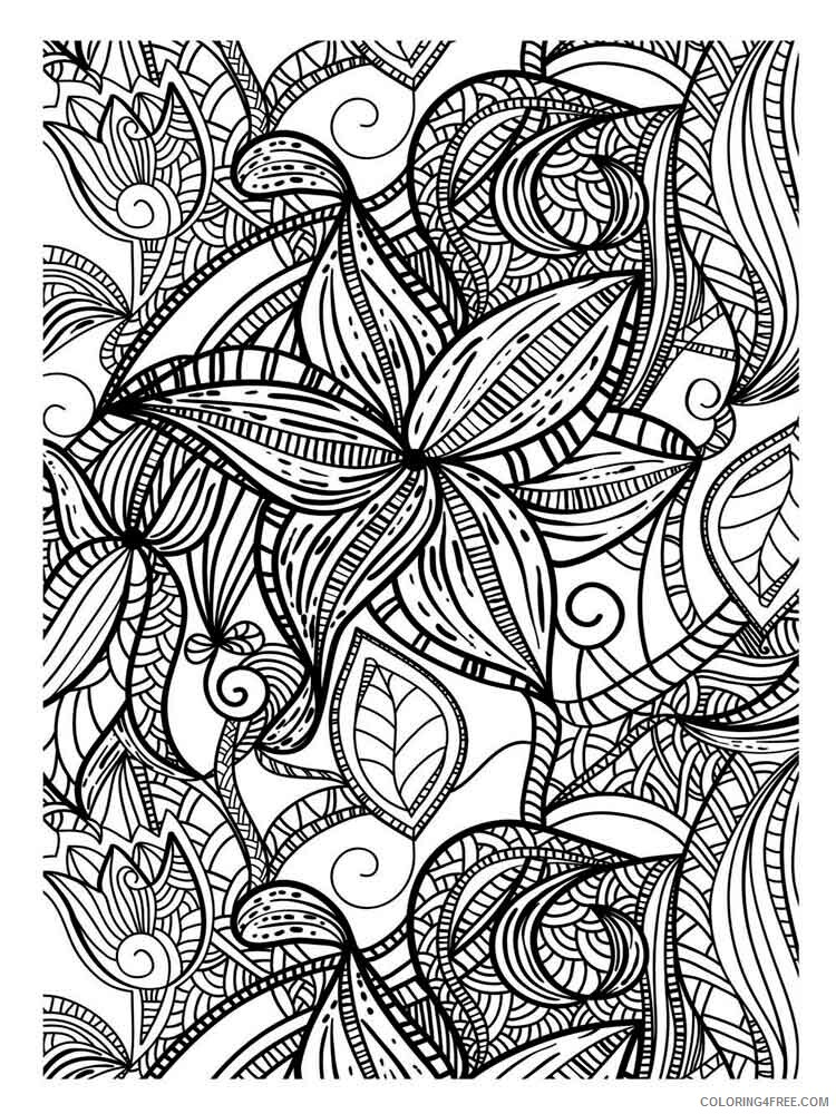 Art Therapy Coloring Pages Adult Adult Art Therapy 7 Printable 2020 150  Coloring4free - Coloring4Free.com