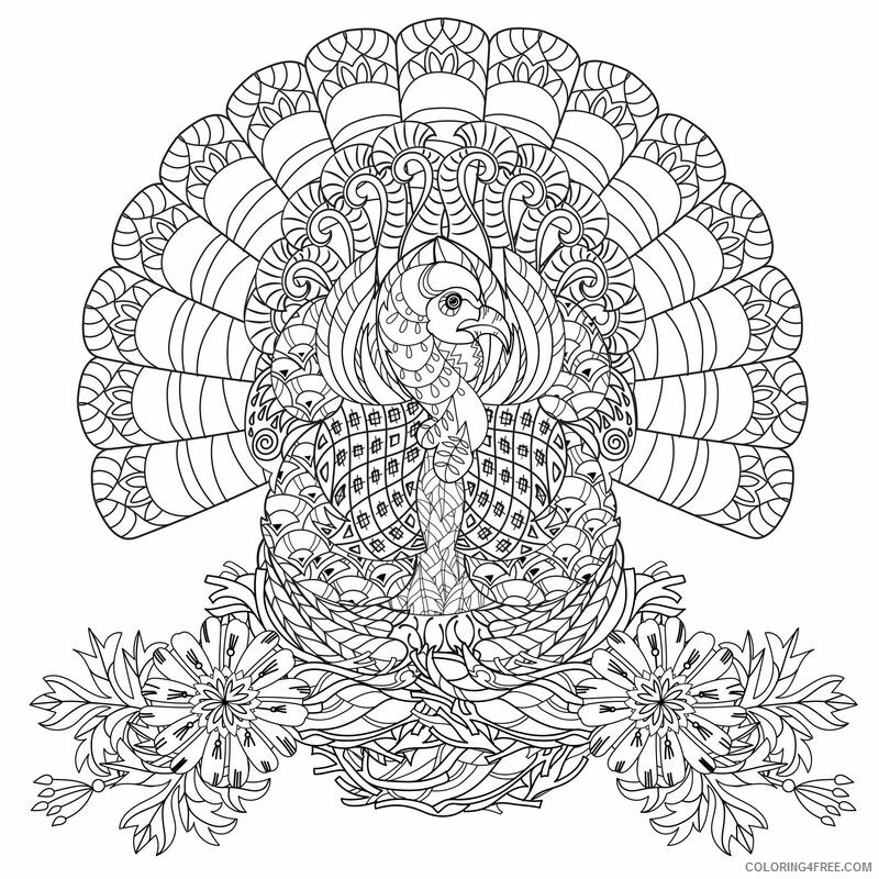 Beautiful Adult Coloring Pages Beautiful Turkey for Adults Printable 2020 532 Coloring4free