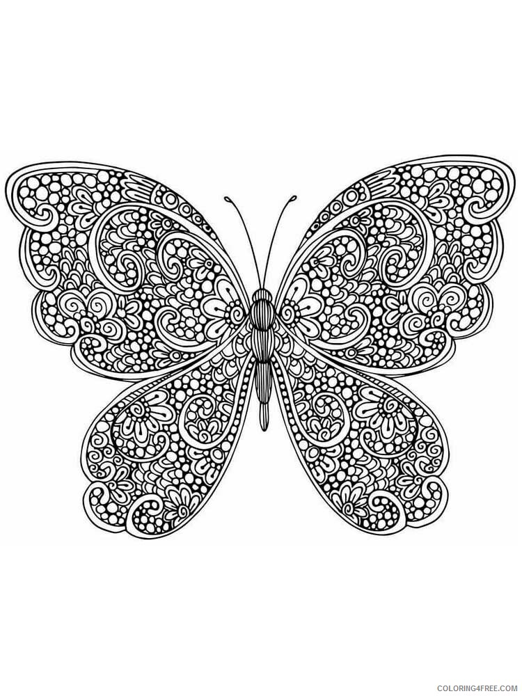 Butterfly for Adults Coloring Pages butterfly for adults 1 Printable 2020 533 Coloring4free