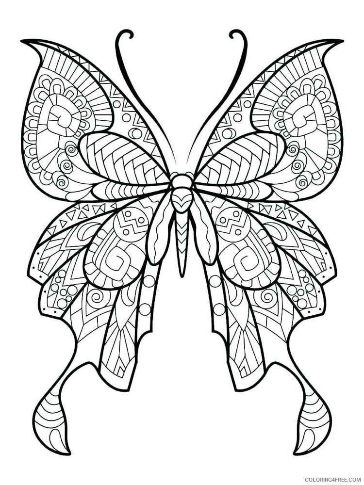 Butterfly for Adults Coloring Pages butterfly for adults 13 Printable 2020 535 Coloring4free