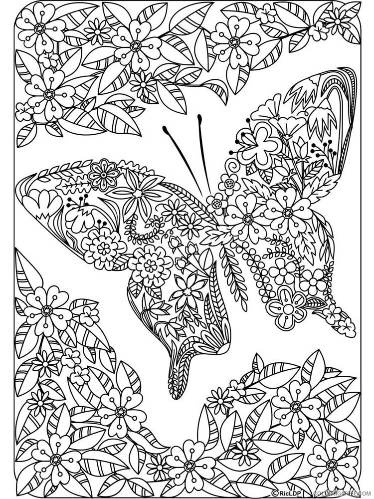 Butterfly for Adults Coloring Pages butterfly for adults 17 Printable 2020 538 Coloring4free