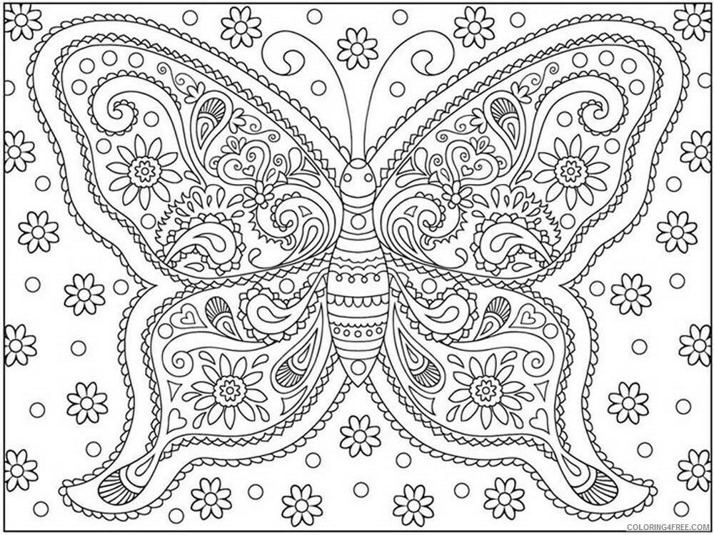 Butterfly for Adults Coloring Pages butterfly for adults 2 Printable 2020 540 Coloring4free