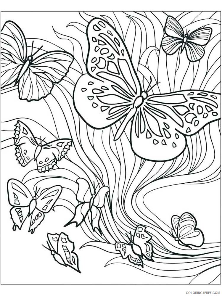 Butterfly for Adults Coloring Pages butterfly for adults 9 Printable 2020 548 Coloring4free