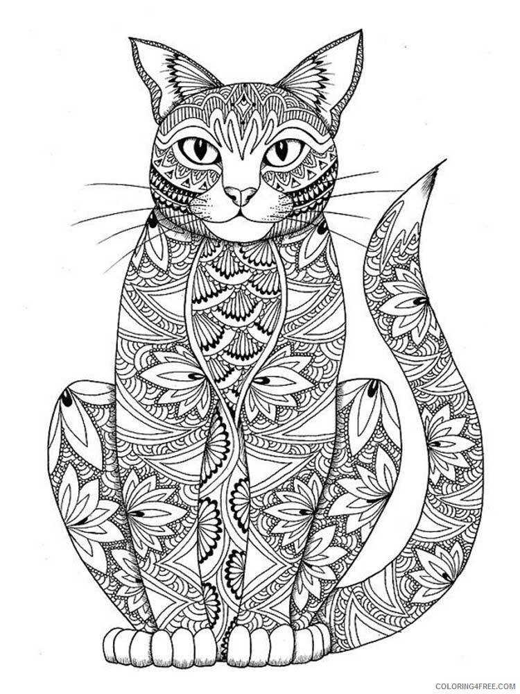 Cat for Adults Coloring Pages cat for adults 12 Printable 2020 552 Coloring4free