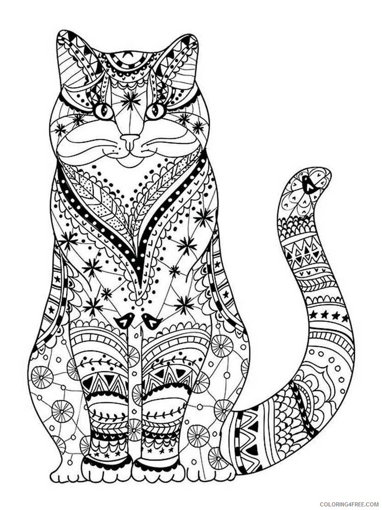 Cat for Adults Coloring Pages cat for adults 18 Printable 2020 557 Coloring4free