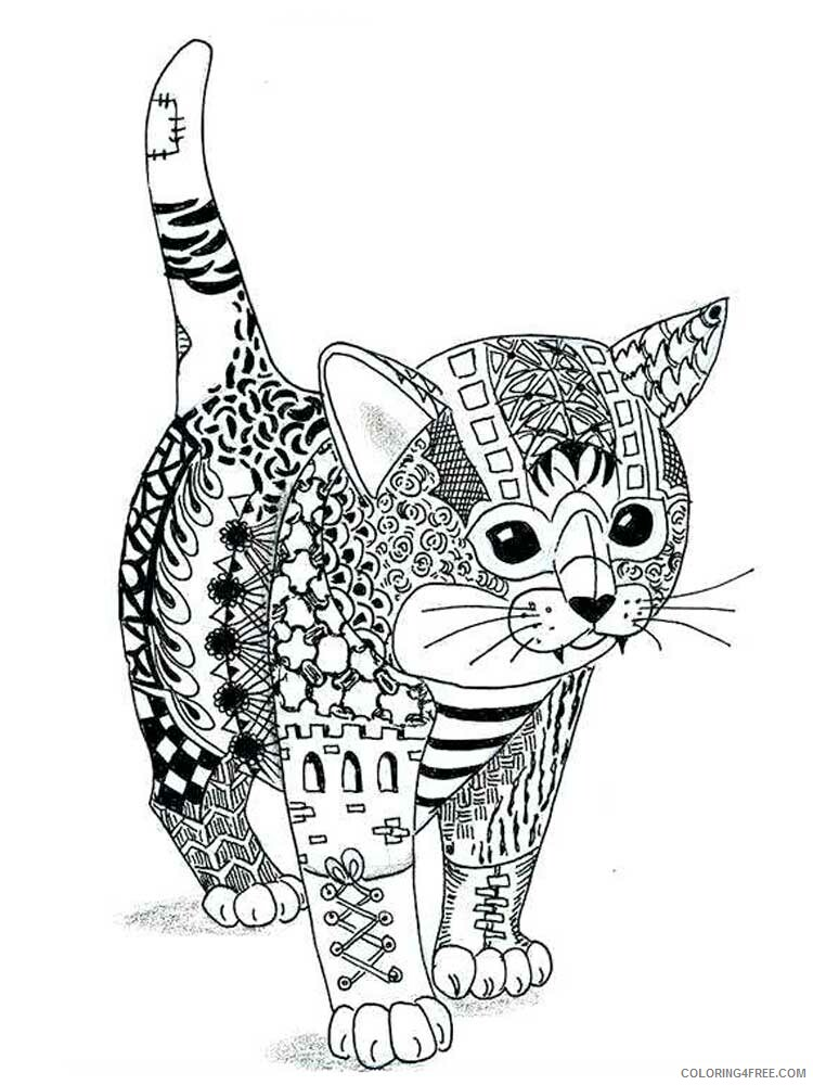 Cat for Adults Coloring Pages cat for adults 3 Printable 2020 559 Coloring4free