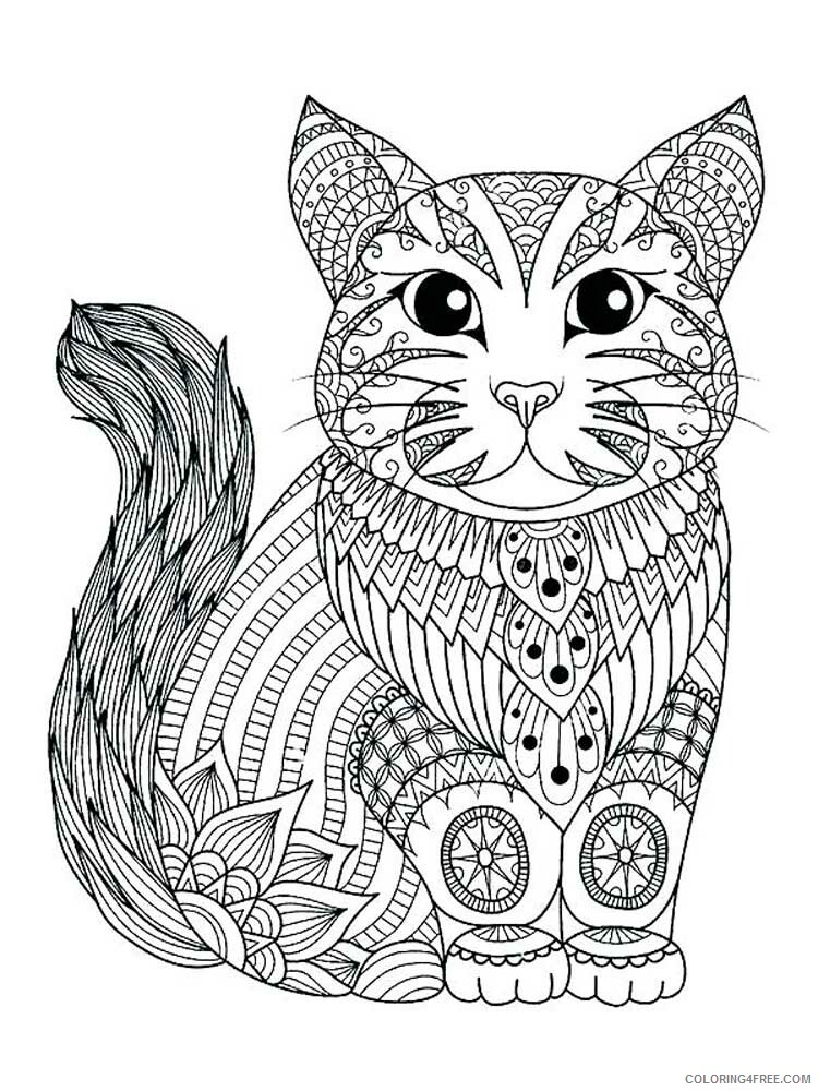 Cat for Adults Coloring Pages cat for adults 4 Printable 2020 560 Coloring4free