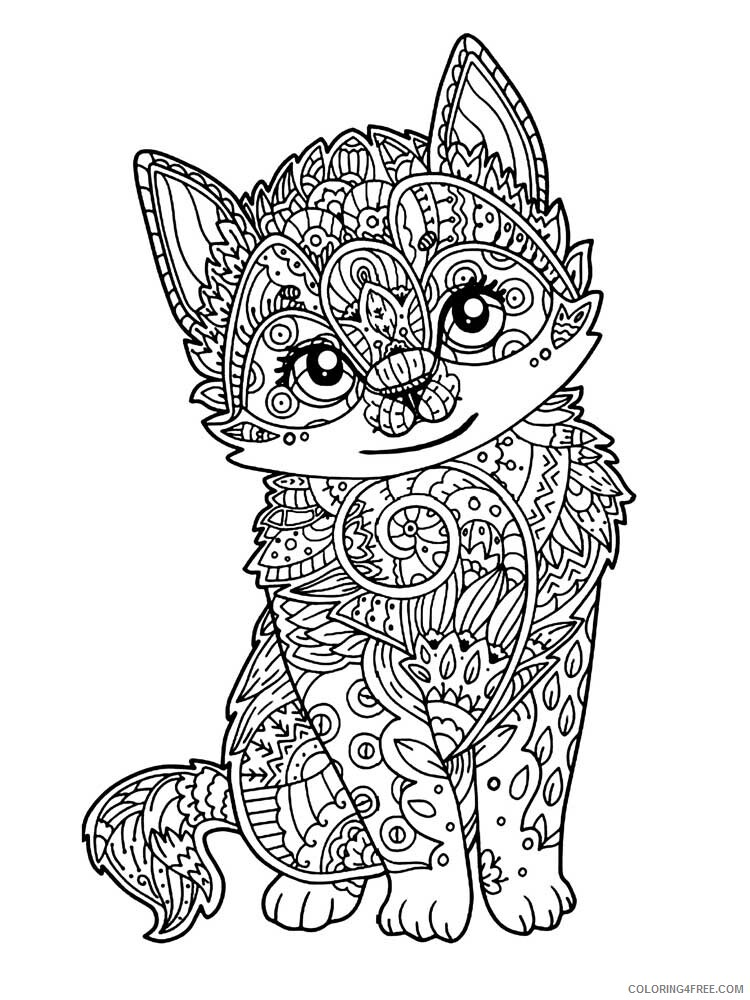 Cat for Adults Coloring Pages cat for adults 5 Printable 2020 561 Coloring4free