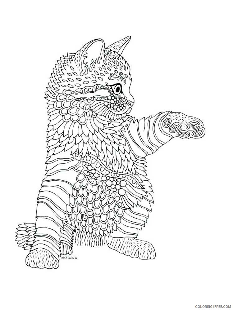 Cat for Adults Coloring Pages cat for adults 6 Printable 2020 562 Coloring4free
