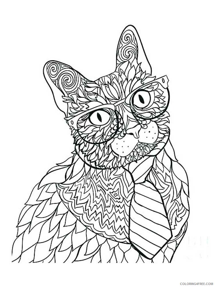 Cat for Adults Coloring Pages cat for adults 7 Printable 2020 563 Coloring4free