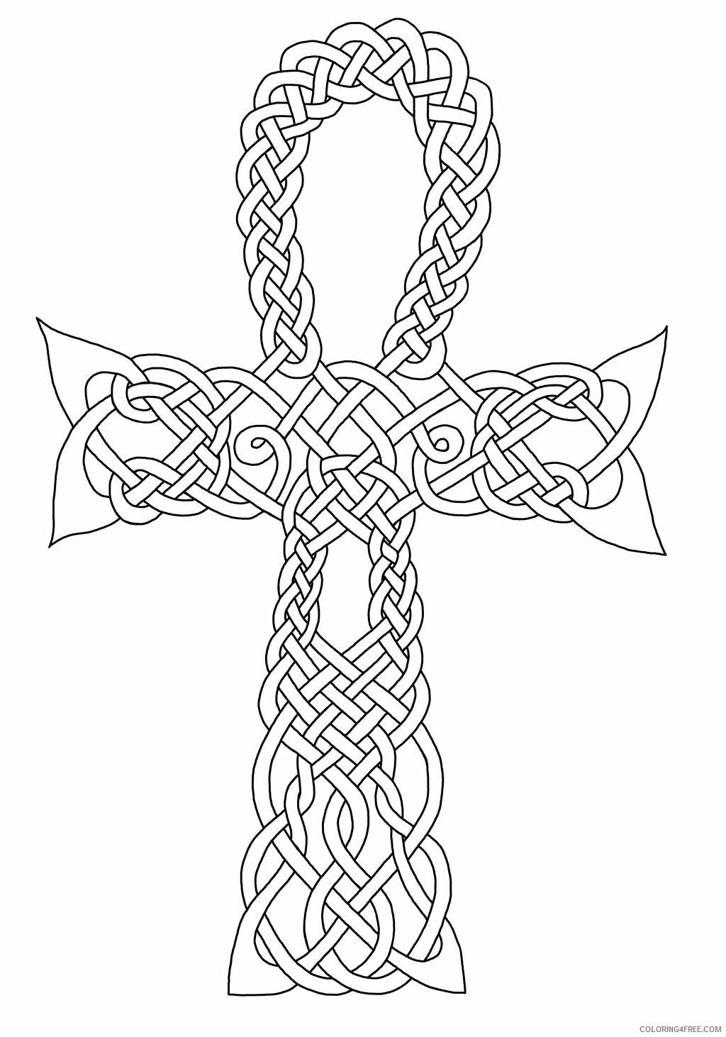Celtic Coloring Pages Adult Celtic Ankh Symbol Printable 2020 154 Coloring4free