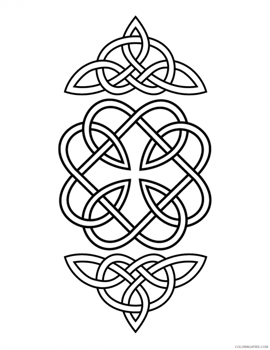 Celtic Coloring Pages Adult Print Celtic Printable 2020 167 Coloring4free