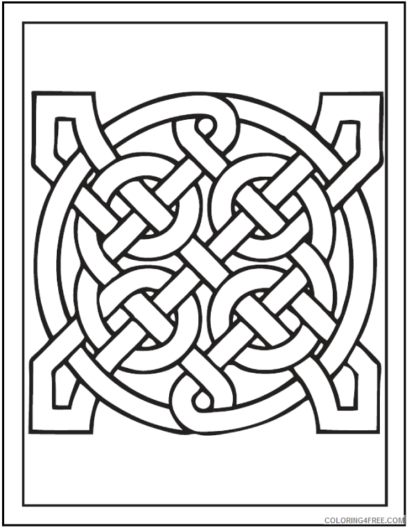 Celtic Coloring Pages Adult Printable Celtic Art Printable 2020 163 Coloring4free