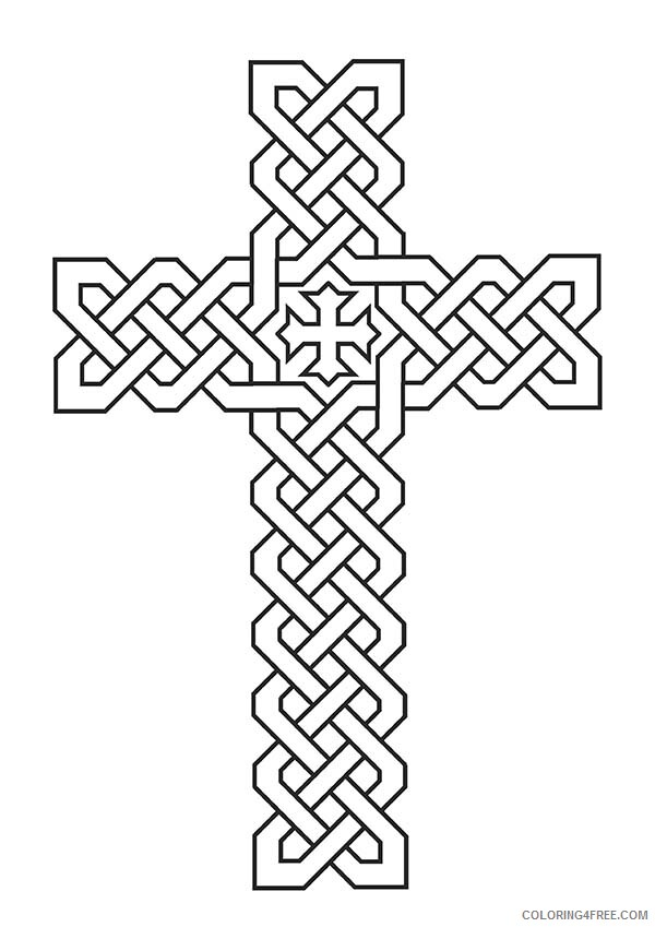 Celtic Coloring Pages Adult Tribal Celtic Cross Printable 2020 169 Coloring4free