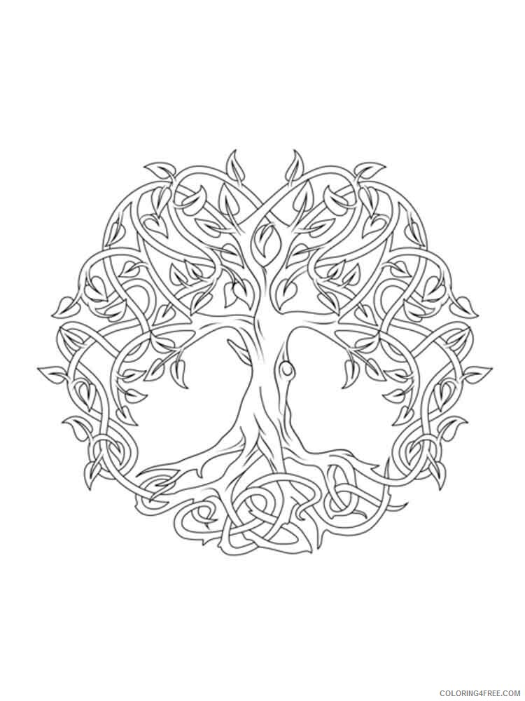 Celtic Knot Coloring Pages Adult adult celtic knot 14 Printable 2020 173 Coloring4free