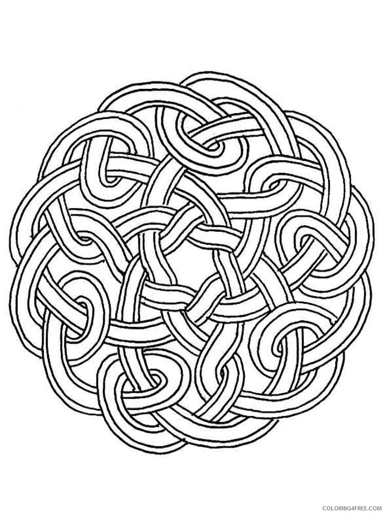 Celtic Knot Coloring Pages Adult adult celtic knot 15 Printable 2020 174 Coloring4free