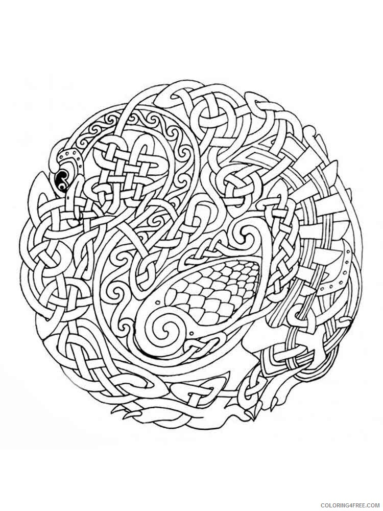 Celtic Knot Coloring Pages Adult adult celtic knot 17 Printable 2020 176 Coloring4free