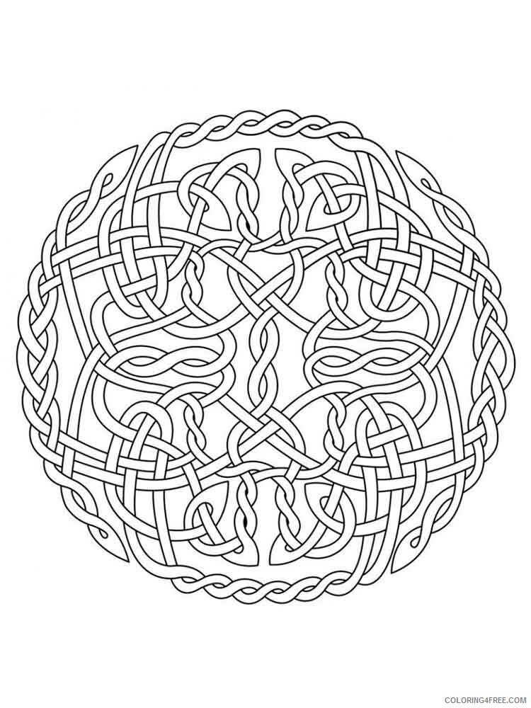 Celtic Knot Coloring Pages Adult adult celtic knot 18 Printable 2020 177 Coloring4free